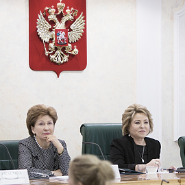 Business women discussed projects at the Federation Council meeting